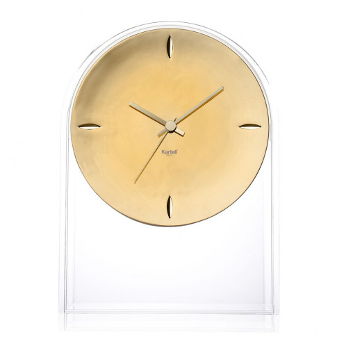 Kartell - Air Du Temps Clock - Crystal/Gold