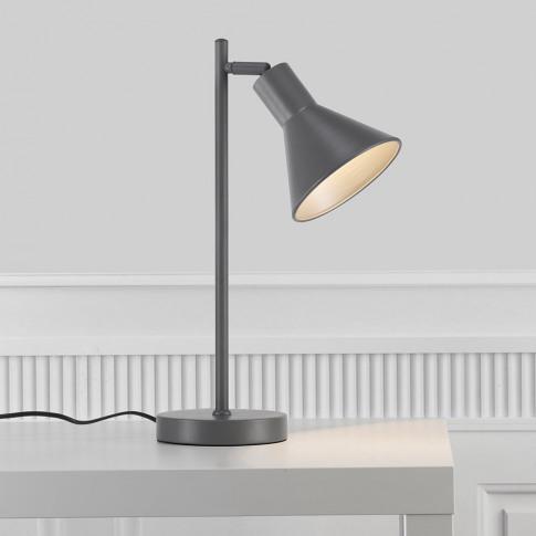 A by Amara - Eik Table Lamp - Grey