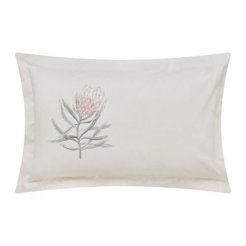 Sanderson - Protea Flower Oxford Pillowcase - Sea Pink