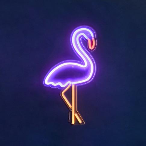 Sunnylife - Neon LED Wall Light - Flamingo - Small