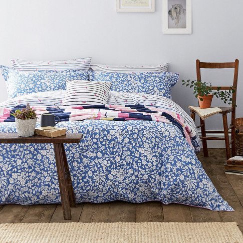 Joules - Orchard Ditsy Duvet Cover - Blue Yonder - D...