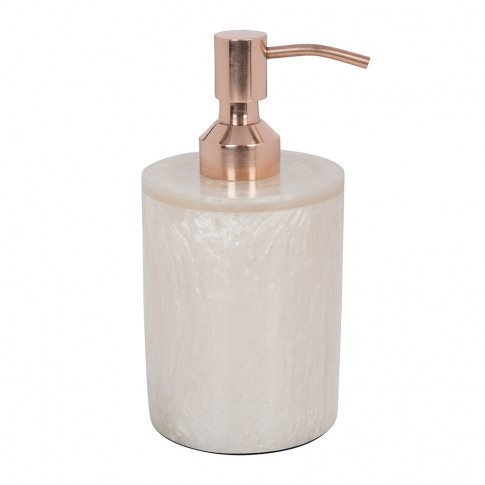 A By Amara - Marbled Resin Soap Dispenser - Ivory