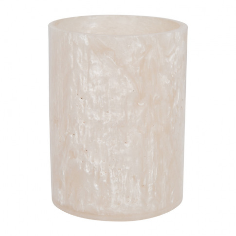 A By Amara - Marbled Resin Toothbrush Holder - Ivory