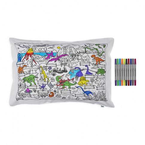 Eat Sleep Doodle - Dinosaur Pillowcase - 75x50cm