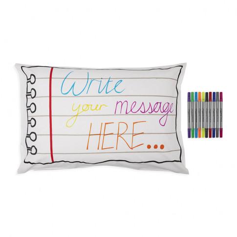 Eat Sleep Doodle - Doodle Notebook Pillowcase - 75x50cm