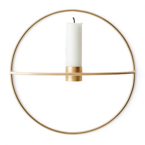 Menu - Pov Circle Candleholder - Brass - Small