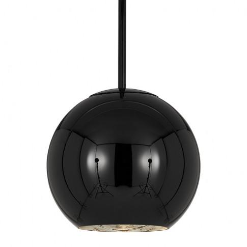 Tom Dixon - Copper Black Round Pendant Light - 25cm