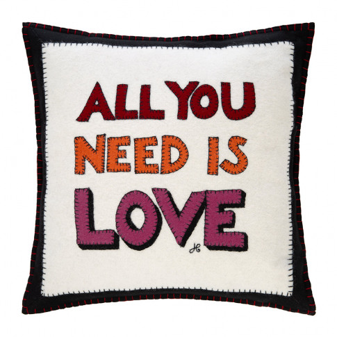Jan Constantine - Pop Art All You Need Is Love Cushi...
