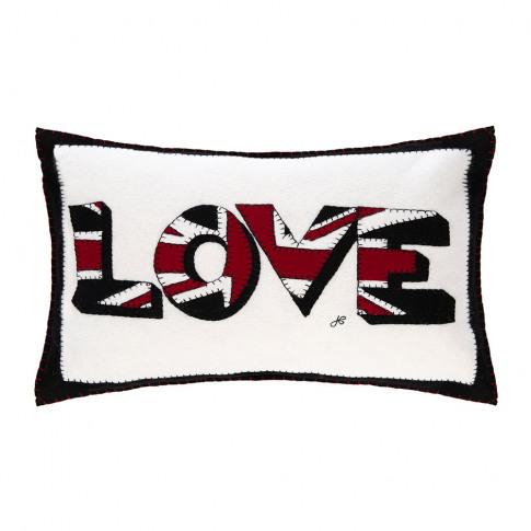Jan Constantine - Pop Art Big Union Jack Love Cushion - 57x41cm