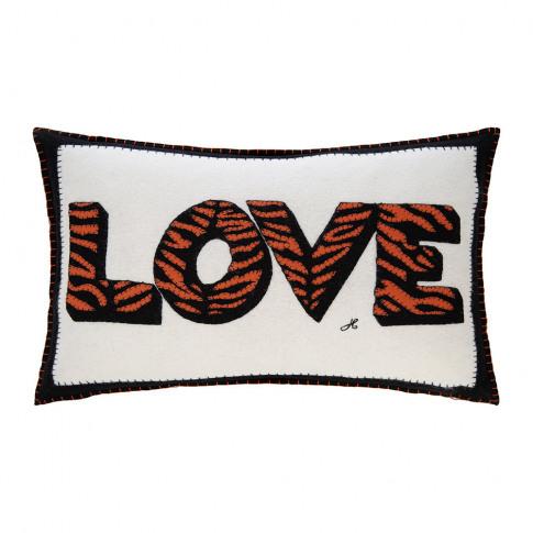 Jan Constantine - Pop Art Tiger Love Cushion - 57x41cm