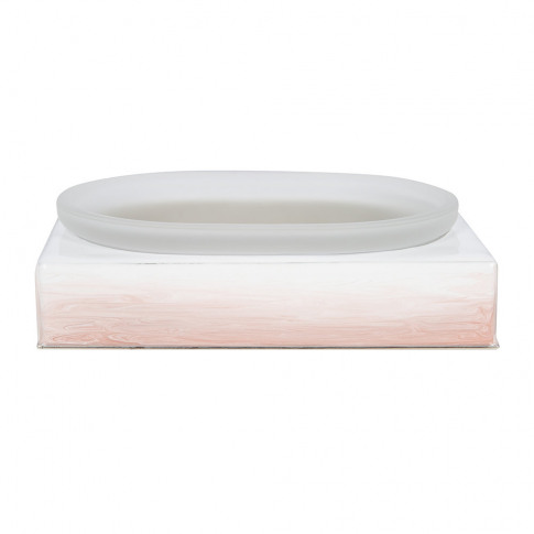 Mike + Ally - Ombre Soap Dish - Pink/Silver