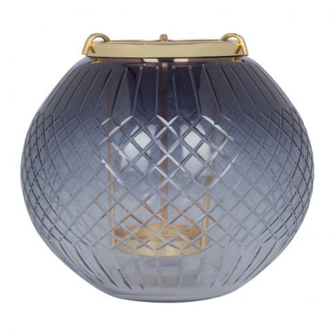 A By Amara - Black Cut Glass Hanging Tealight Holder...