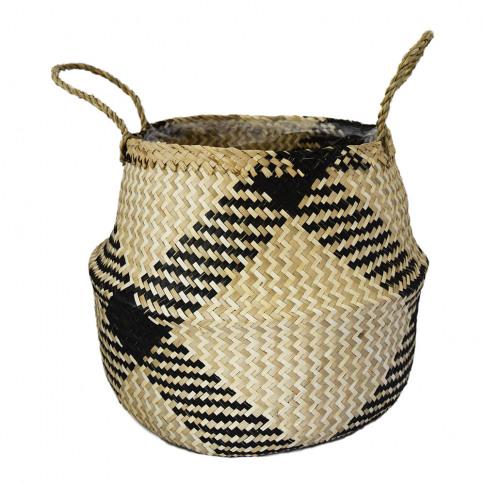 Ivyline - Seagrass Lined Basket Planter - Diamond