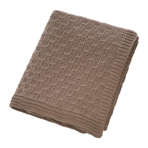 A By Amara - Tile Knit Throw - Chestnut