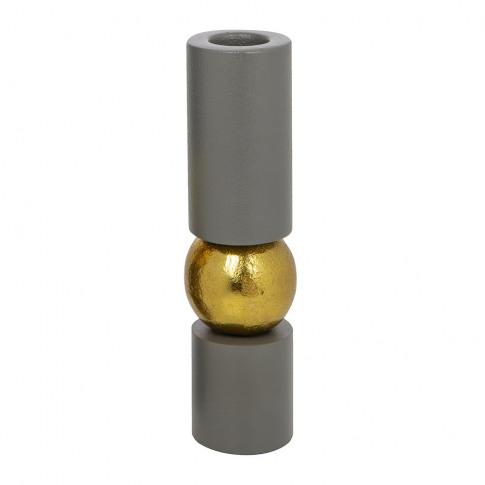 A By Amara - Grey Balance Candlestick - Small