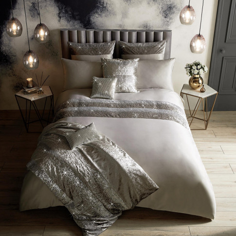 Kylie Minogue At Home - Skyla Duvet Cover - Silver -...