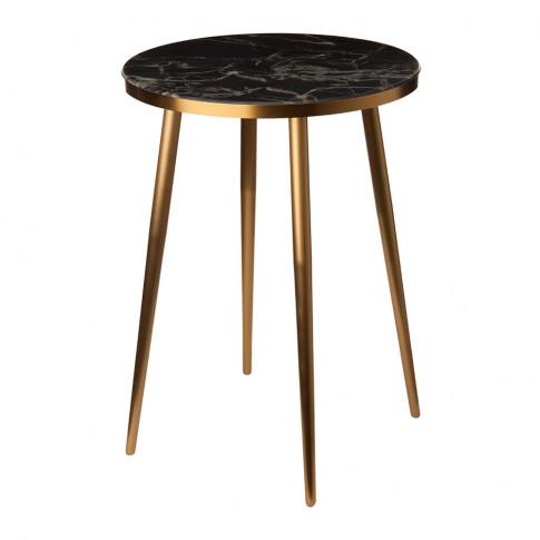 Pols Potten - Marble Look Side Table - Black