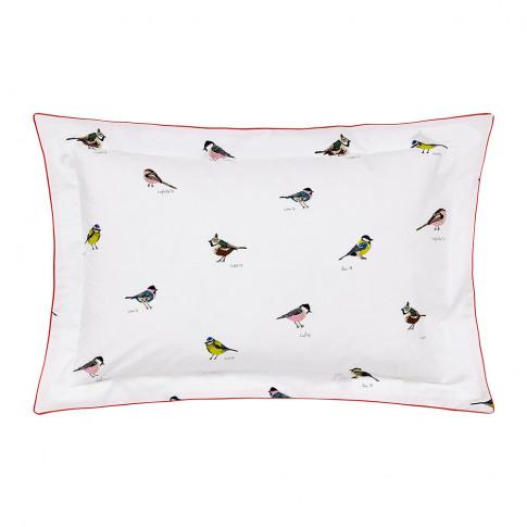 Joules - Great British Birds Oxford Pillowcase - Chalk