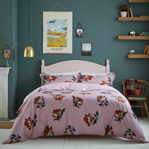 Joules - Heritage Peony Duvet Cover - Lilac - Double
