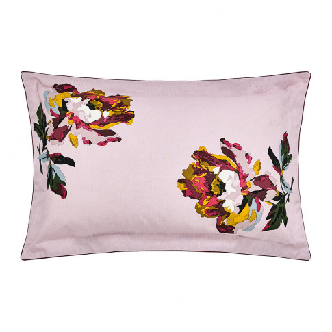 Joules - Heritage Peony Oxford Pillowcase - Lilac