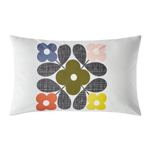 Orla Kiely - Flower Tile Pillowcases - Set Of 2 - Multi