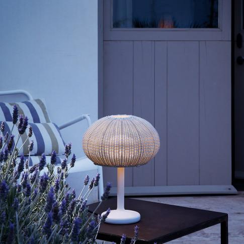 Bover - Garota Rattan Table Lamp - Ivory