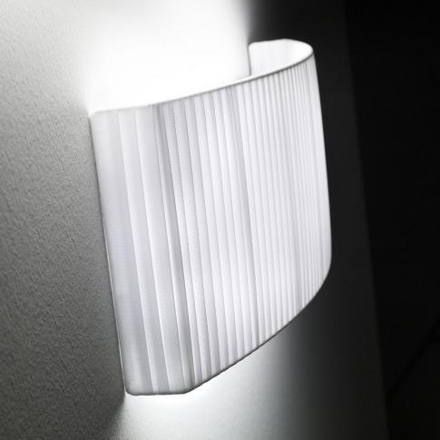 Bover - Wall Street Wall Light - White Ribbon - 32cm