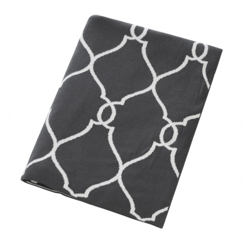 A By Amara - Diamond Print Throw - 130x170cm - Grey