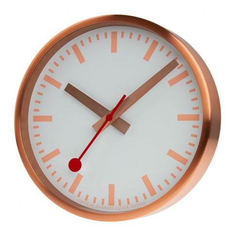 Mondaine Sbb - Classic Metal Wall Clock - Pure Copper