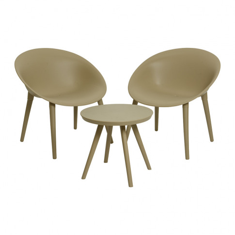 A By Amara - Outdoor Coffee Table & Chair Set - Sand