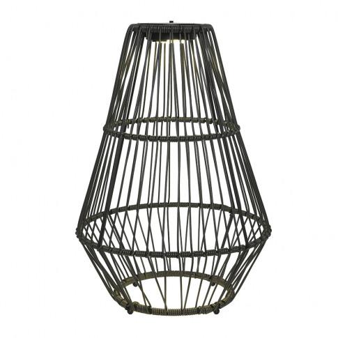 A By Amara - Outdoor Rope Floor Lantern - Grey