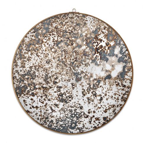 Nkuku - Kiko Decorative Mirror - Antique Brass - Small