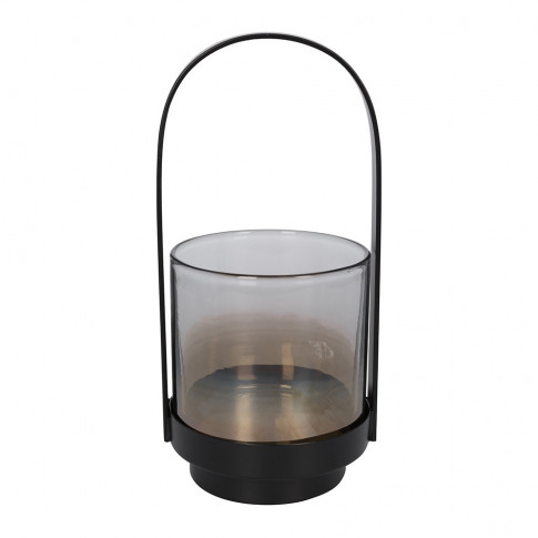 A By Amara - Metal & Glass Lantern - Small