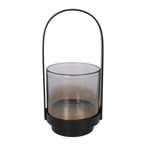 A By Amara - Metal & Glass Lantern - Small