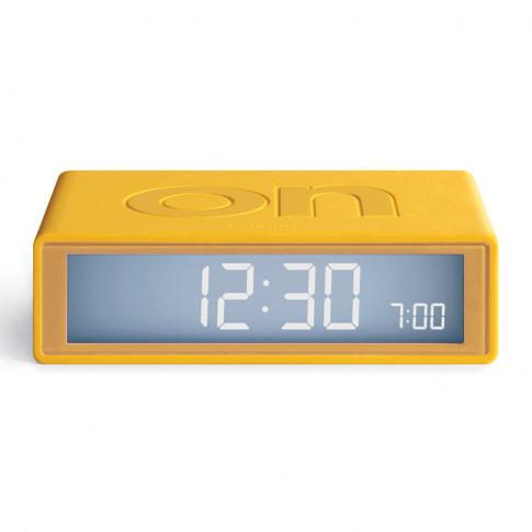 Lexon - Flip+ Travel Alarm Clock - Yellow