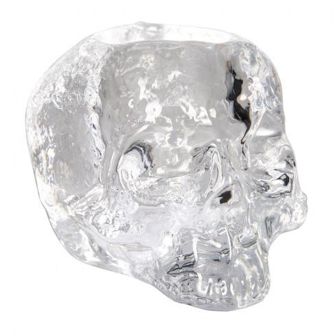 Orrefors Kosta Boda - Still Life Skull Votive - Clear