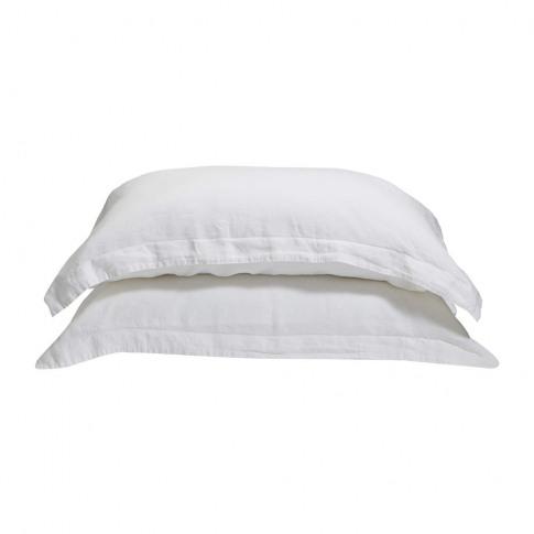 Soho Home - Luna Linen Pillowcase - Set Of 2 - White