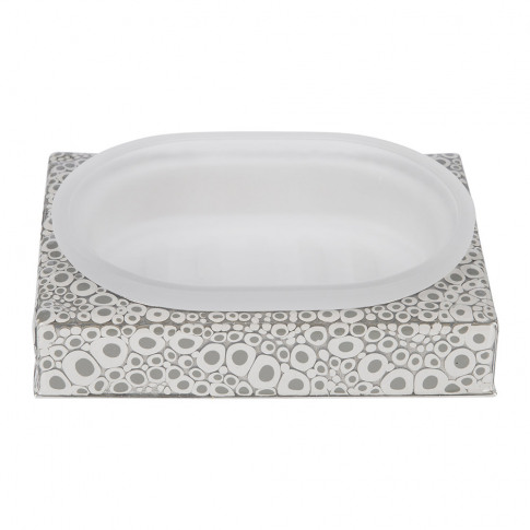 Mike + Ally - Proseco Soap Dish - Gravel/Silver