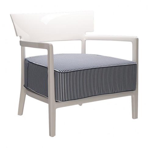 Kartell - Cara Outdoor Armchair - Ivory/Blue