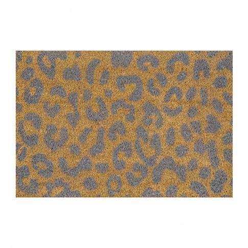 Artsy Doormats - Leopard Door Mat - Grey