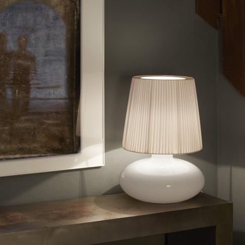 Bover - Muf Glass Table Lamp - White Ribbon - 02