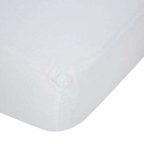 Soho Home - Luna Linen Fitted Sheet - White - King