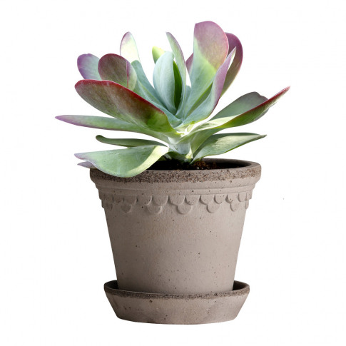 Bergs Potter - Copenhagen Plant Pot And Saucer - Gre...