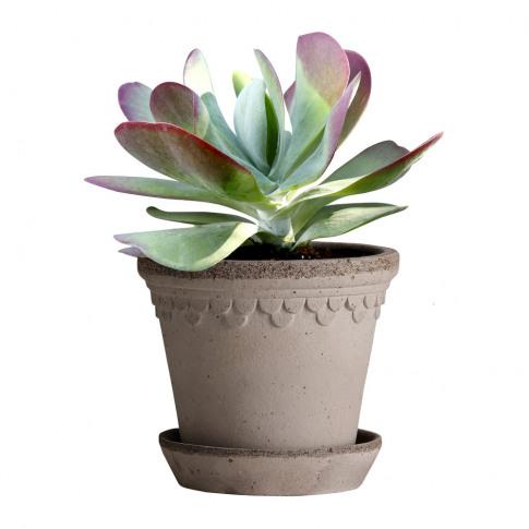 Bergs Potter - Copenhagen Plant Pot And Saucer - Gre...