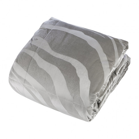 Roberto Cavalli - Macro Zebrage Monogram Quilted Bedspread - 270x260cm - Grey