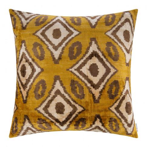 Les Ottomans - Velvet Cushion - 60x60cm - Ochre Diam...