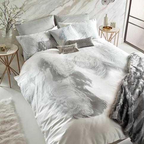 Rita Ora Home - Pristina Duvet Cover - White - Double