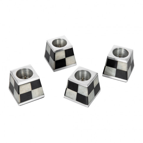 Mackenzie-Childs - Pyramid Candle Holders - Set Of 4...