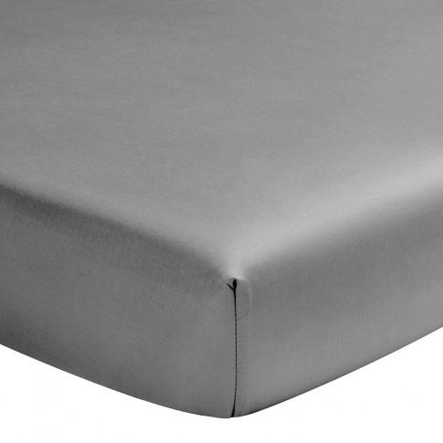 Alexandre Turpault - Teo Fitted Sheet - Steel Grey -...
