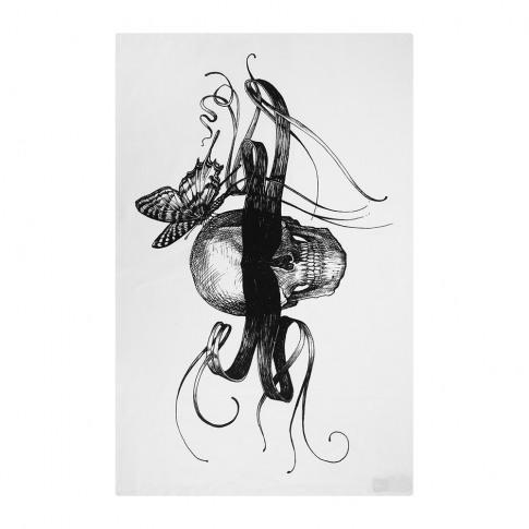 Rory Dobner - Terrific Tea Towels - Masked Skull